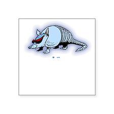 Armadilo Square Sticker