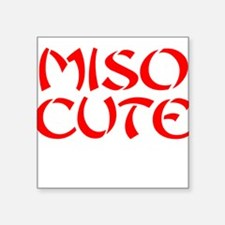 Miso Cute Square Sticker