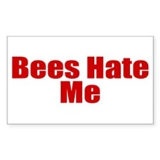 Bees Hate Me Decal