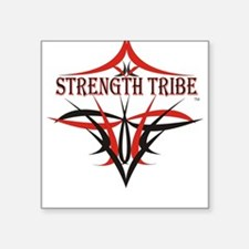 Tribe Logo - BLK/Red Square Sticker