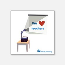 Square Sticker: We Heart Teachers
