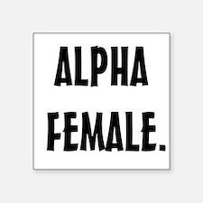 Alpha Female Square Sticker