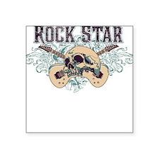 Rock Star Guitars Skulls Square Sticker