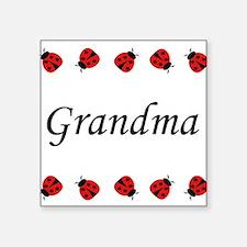 Grandma (ladybug) Square Sticker
