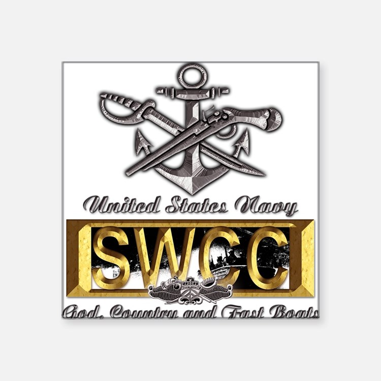 USN Navy SWCC Boat Operator Square Sticker
