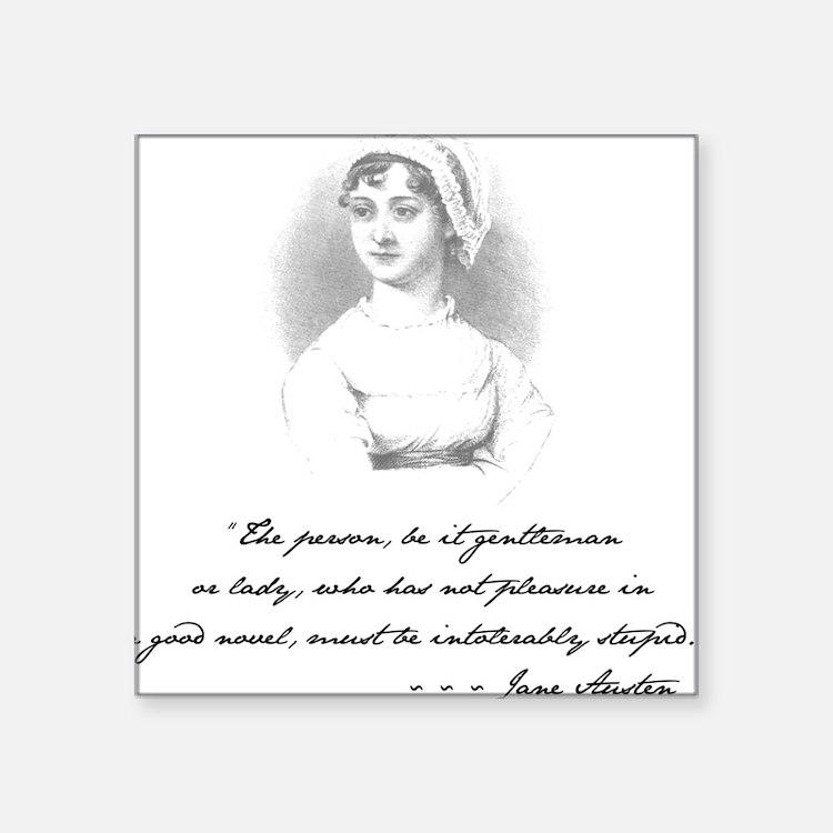 Jane Austen Attitude Square Sticker