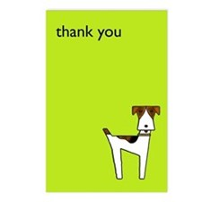 wire fox terrier thank you Postcards (Package of 8