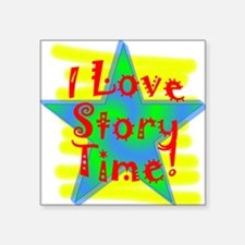 Story Time Square Sticker