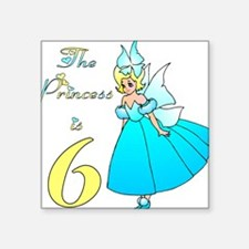 Fairy Princess Age 6 Square Sticker