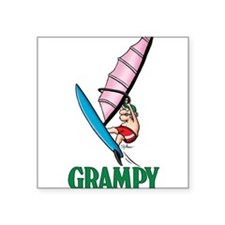 Windsurfer Grampy Square Sticker