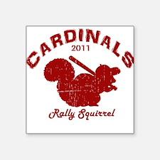 Cardinals Rally Squirrel Square Sticker