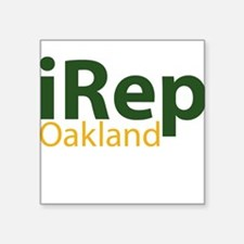 iRep Oakland - Green/Yellow on White Shirt