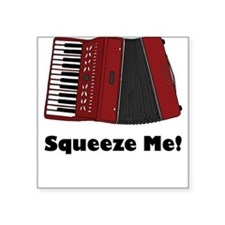 Accordion Squeeze Box Square Sticker