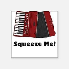Accordion Squeeze Box Square Sticker