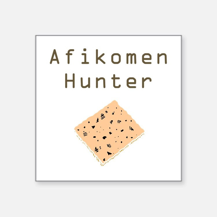 Afikomen Hunter Square Sticker