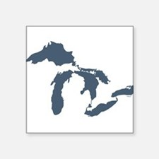 Great Lakes Square Sticker