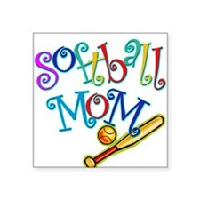 Softball Mom II Square Sticker