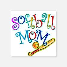 Softball Mom II Square Sticker
