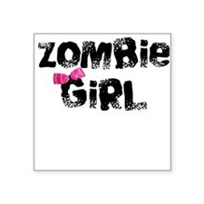 Zombie Girl Square Sticker