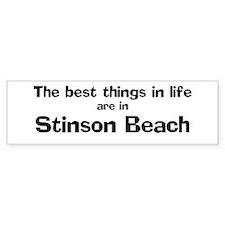 Stinson Beach: Best Things Bumper Bumper Sticker