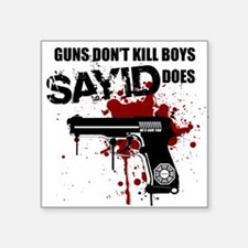 Sayid shoots and maybe kills Ben Square Sticker