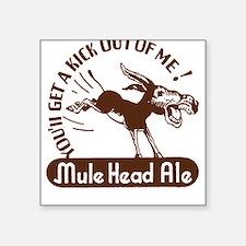 Mule Head Ale Square Sticker
