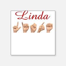 Linda Square Sticker