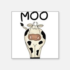 Cow Says Moo Square Sticker
