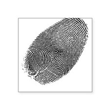 Fingerprint Square Sticker