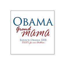 Obama Grandmama Square Sticker