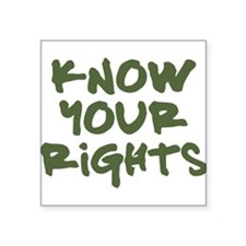 Know Your Rights Square Sticker