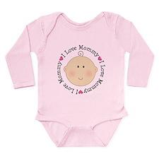 I Love Mommy Long Sleeve Infant Bodysuit