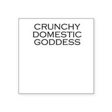 Crunchy Domestic Goddess Square Sticker