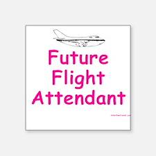 Future Flight Attendant Creeper Square Sticker
