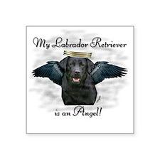 Labrador Retriever Angel Square Sticker