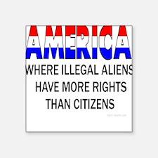 More Rights Square Sticker