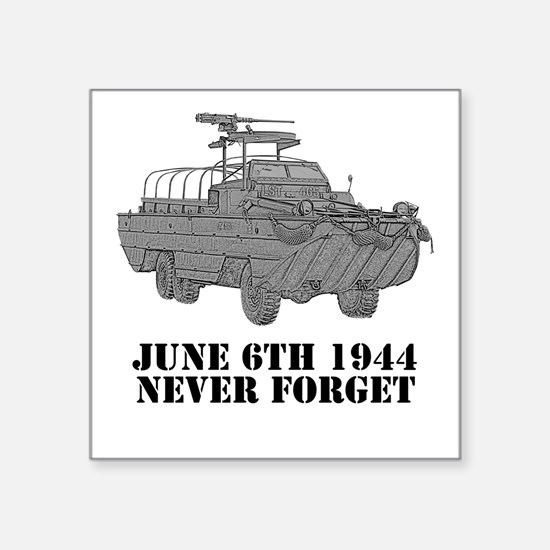 D-Day Square Sticker