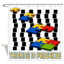 Thinking In Progress Shower Curtain