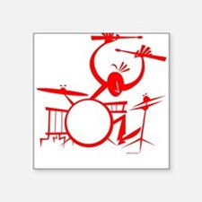 Drummer Square Sticker