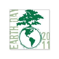 Earth Day 2011 Square Sticker