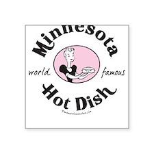 Retro Minnesota Hot Dish Square Sticker