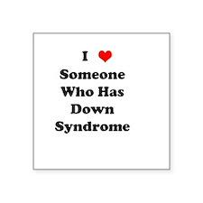 Down Syndrome Love Square Sticker