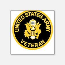 Army Veteran Tee Shirt<BR>Gold On Black