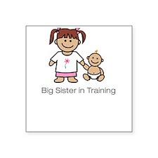 """""""Big Sister in Training"""" Creeper Square Sticker"""