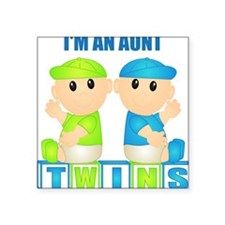 I'm An Aunt (BBB:blk) Square Sticker