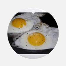 Fried Eggs eggs over easy Ornament (Round)