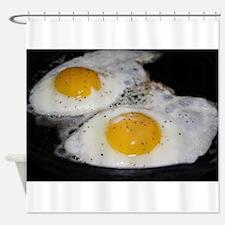 Fried Eggs eggs over easy Shower Curtain