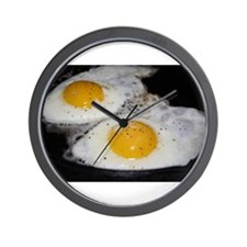 Fried Eggs eggs over easy Wall Clock