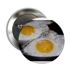 """Fried Eggs eggs over easy 2.25"""" Button"""
