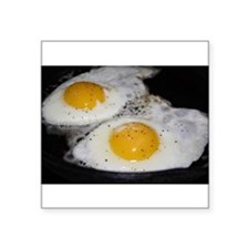 "Fried Eggs eggs over easy Square Sticker 3"" x 3"""